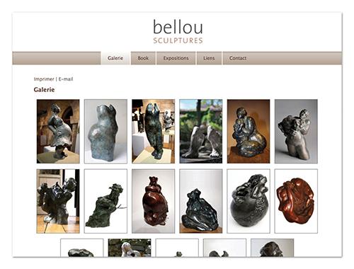 Site Bellou sculpture ∙ Anne-Marie Prat ∙ Design graphique et web