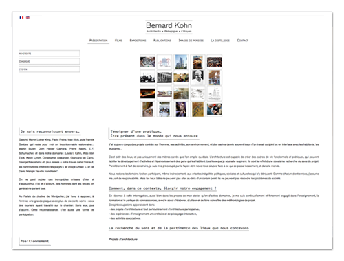 Site Bernard Kohn ∙ Anne-Marie Prat ∙ Design graphique et web