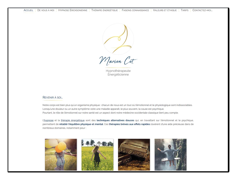 Site Marion Cot ∙ Anne-Marie Prat ∙ Design graphique et web