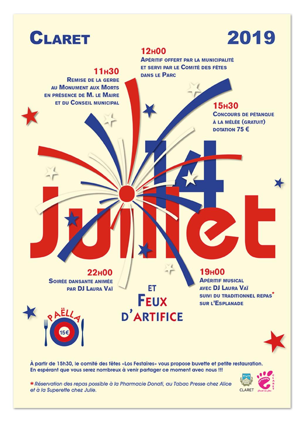 14 juillet ∙ Anne-Marie Prat ∙ Design graphique et web