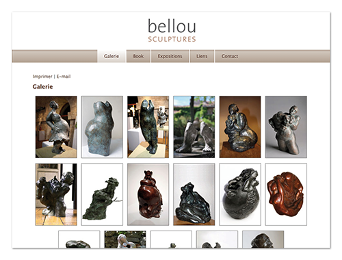 Site Bellou sculpture ∙ Anne-Marie Prat ∙ Design graphique et web