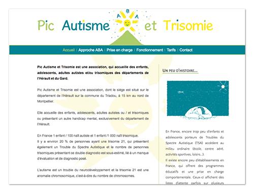 Site Pic autisme et trisomie ∙ Anne-Marie Prat ∙ Design graphique et web