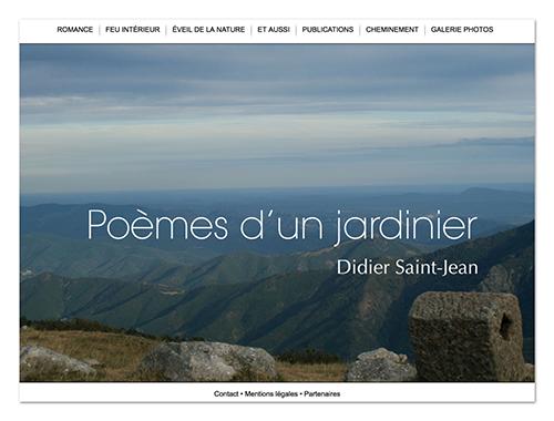 Site Poèmes d'un jardinier ∙ Anne-Marie Prat ∙ Design graphique et web