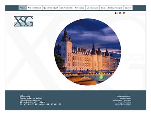 Site XSG avocats ∙ Anne-Marie Prat ∙ Design graphique et web