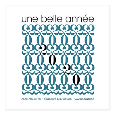 Vœux ∙ Anne-Marie Prat ∙ Design graphique et web